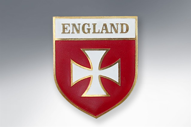 "Placa ""England Maltese cross\"" escudo"