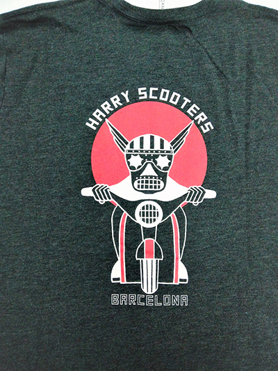 Camiseta Harry Scooters Usa style gris plomo