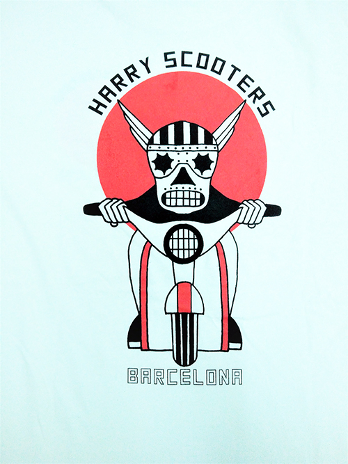 Camiseta Harry Scooters Usa style beige