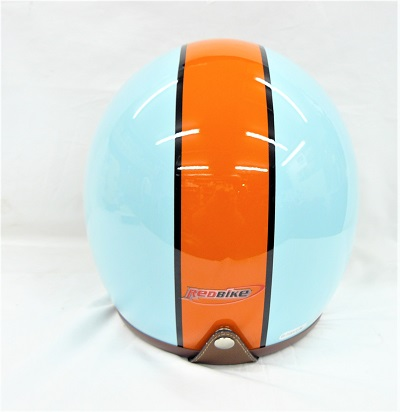 Casco jet Red Bike azul/naranja Gulf ECE 22.05