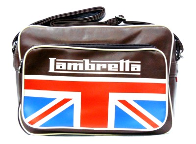 Bolso Lambretta UK marron largo