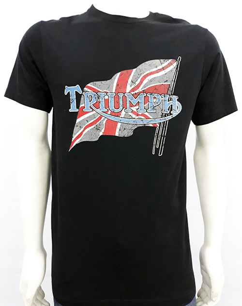"Camiseta Oil Leak ""Triumph flag\"""
