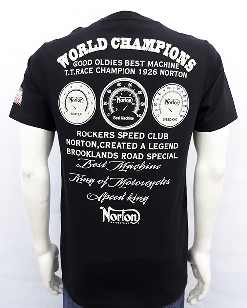 "Camiseta Oil Leak ""Norton world champ\"""