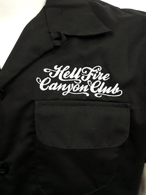 "Camisa bowling ""Hell fire\"""