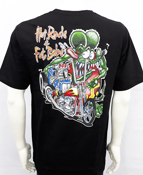 "Camiseta Rat Fink ""Hot rods and fat bobs"""