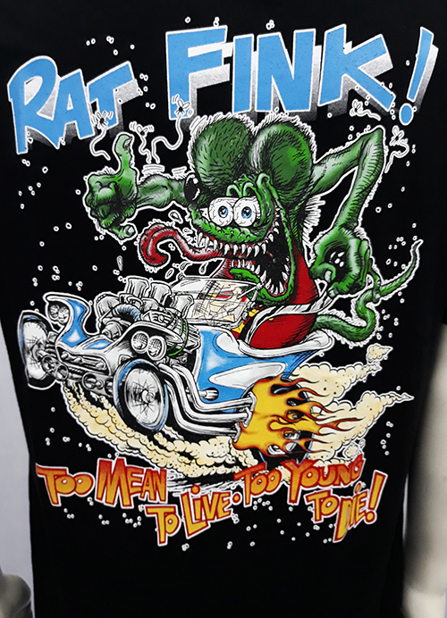 "Camiseta Rat Fink ""To mean to live\"""