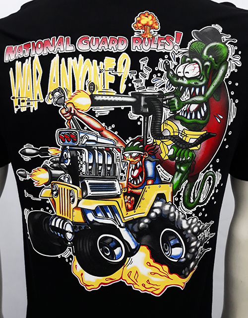 "Camiseta Rat Fink ""National Guard\"""