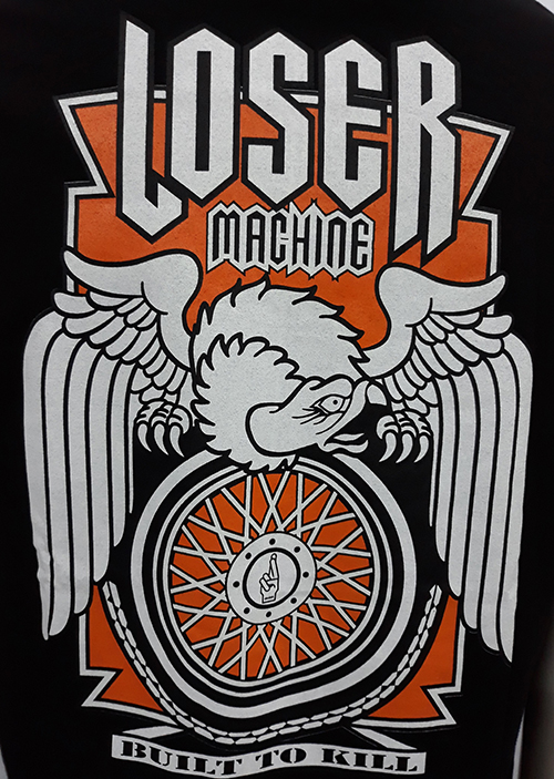 "Camiseta Loser Machine ""Orange wheel\"""