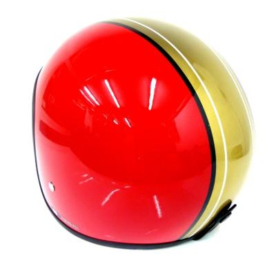 Casco jet Red Bike rojo-dorado
