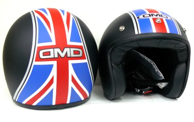 Casco jet DMD Union Jack black homologado