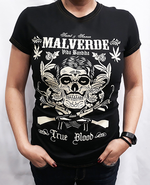 "Camiseta chica True Blood ""Malverde\"""