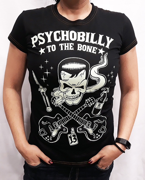 "Camiseta chica True Blood ""Psychobilly\"""