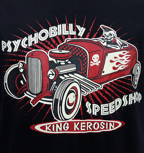 "Camiseta King Kerosing ""Psychobilly\"""