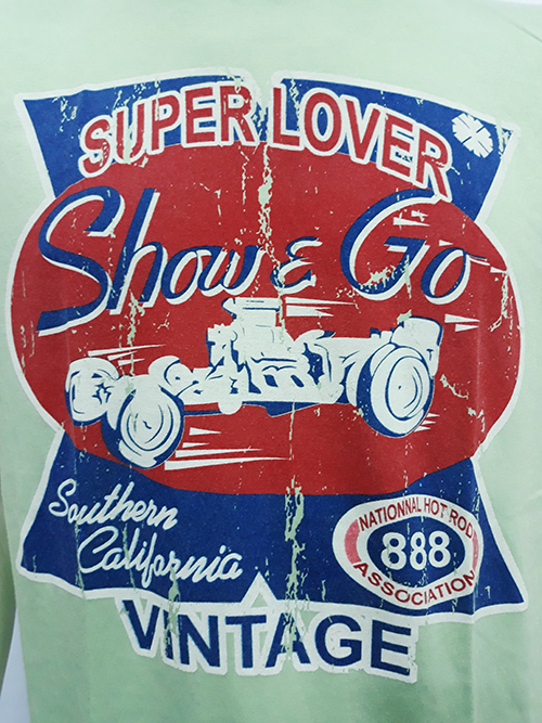 "Camiseta Superlove ""Show & rod \"" verde claro"