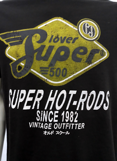 "Camiseta Superlove ""Hot rods \"" negro"