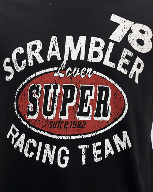 "Camiseta Superlove ""Scramble 78\"" negro"