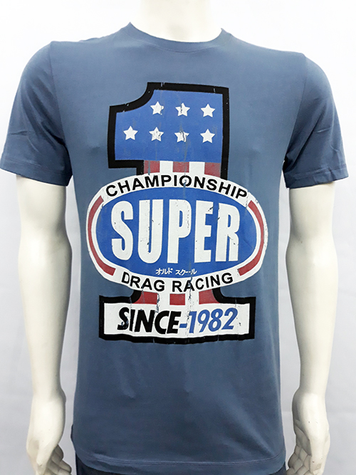 "Camiseta Superlove ""Drag racing 1"" azul"