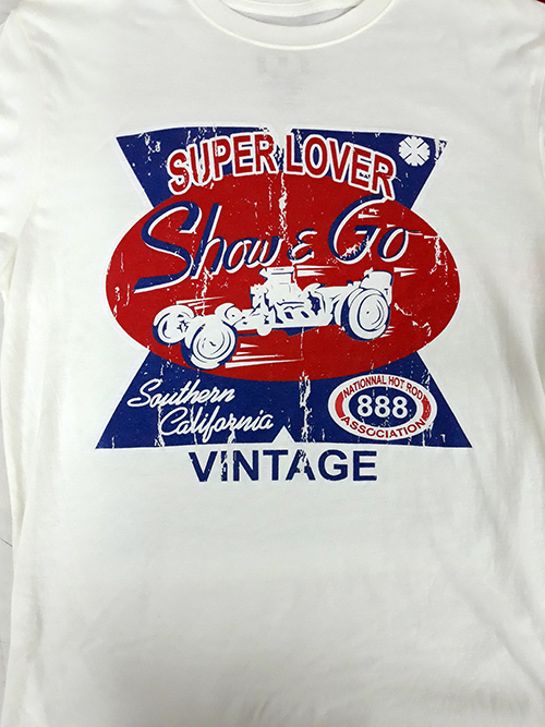 "Camiseta Superlove ""Show & rod \"" verde-beige"