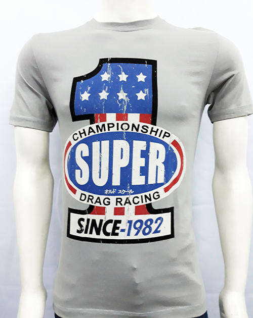 "Camiseta Superlove ""Drag racing 1"" gris"