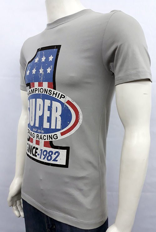 "Camiseta Superlove ""Drag racing 1\"" gris"