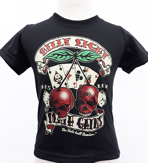 "Camiseta niño Billy Eight ""Cherry skulls"""