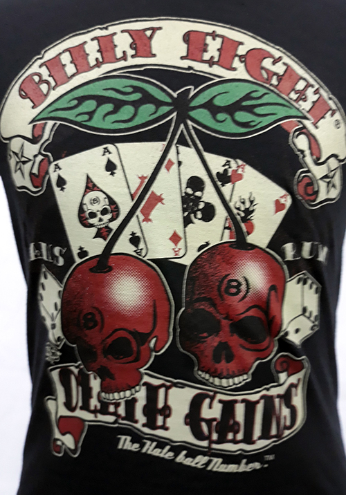 "Camiseta niño Billy Eight ""Cherry skulls\"""